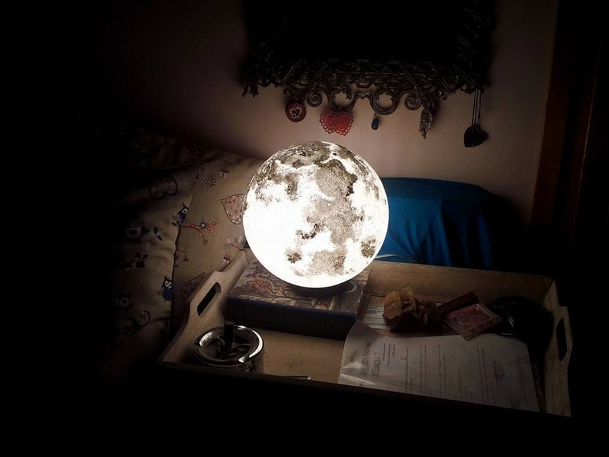 You Can Purchase These Cool Moon And Planet Lamps Over On Etsy!