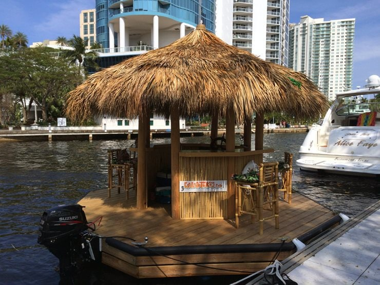 This Guy Strapped A Boat Motor To His Tiki Bar And It S Cool