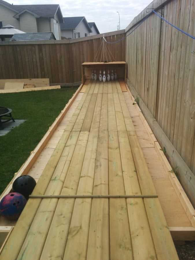 how to build a backyard bowling alley faceboom