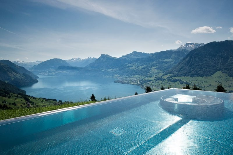 stairway to heaven in the swiss alps descends into a