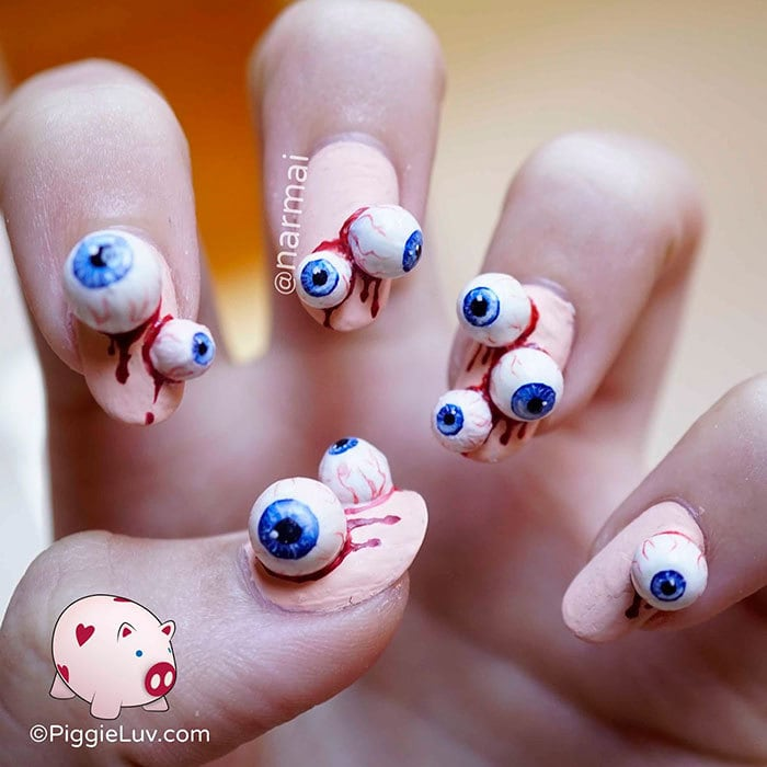This Creepy Halloween Nail Art Is Spooktacular