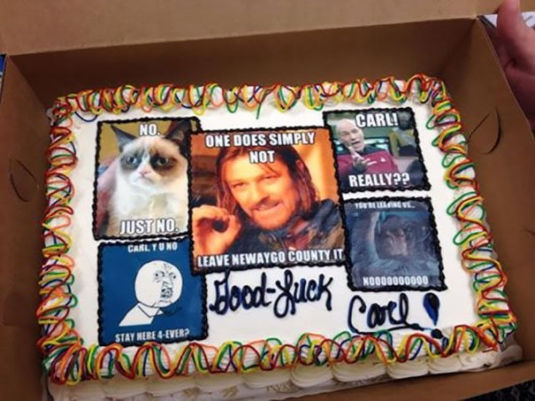 30 Of The Funniest Farewell Cakes You'll Ever See