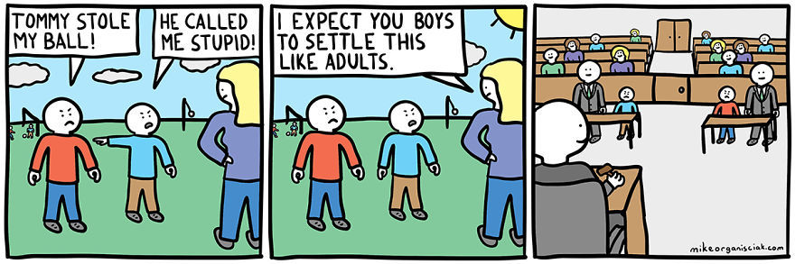 21 Dark Humor Comics With Unexpected Twists Funny Adults Cartoon Image