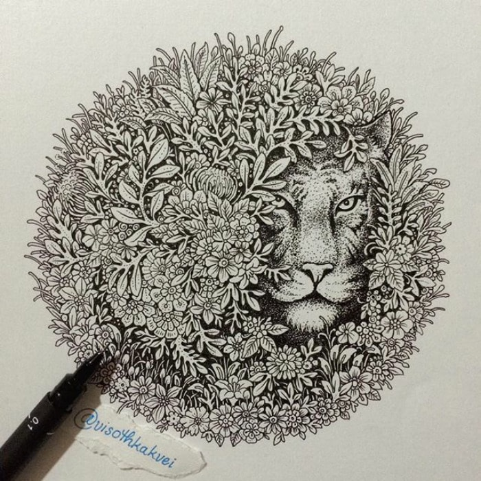 Cool Doodles By Cambodian Artist Visoth Kakvei