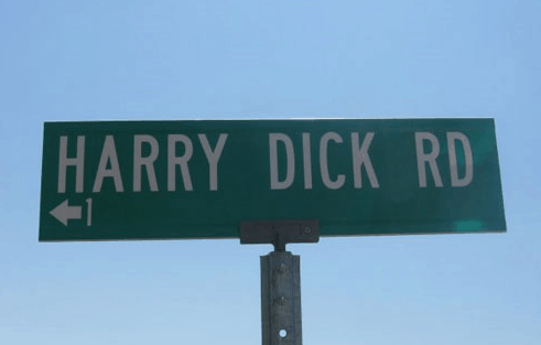 funniest street name ever pictures