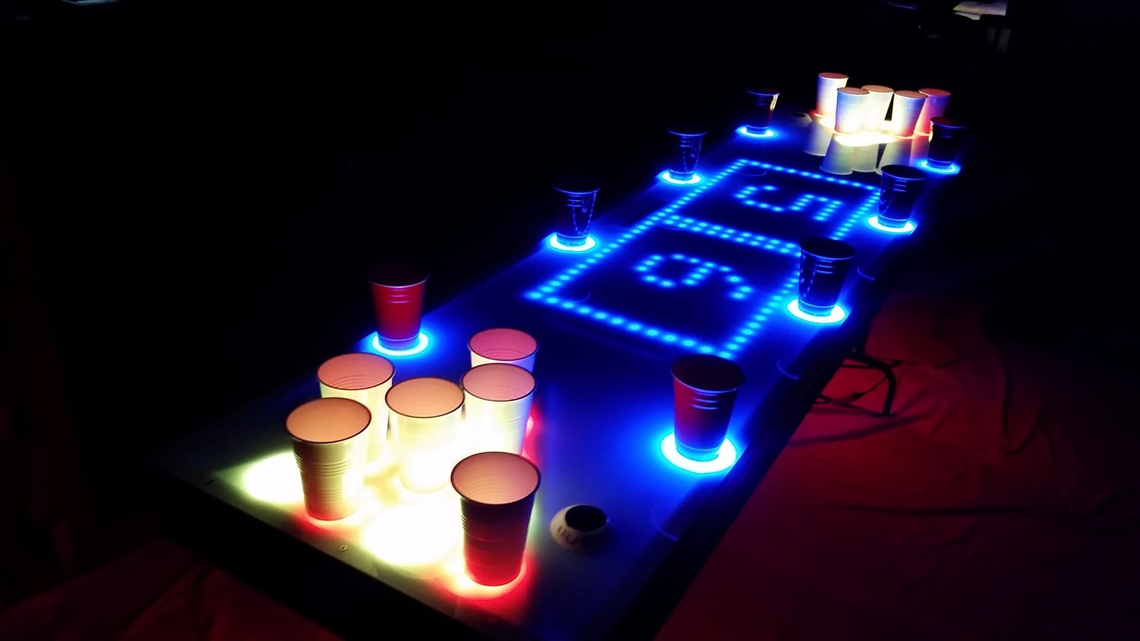 this amazing led beer pong table can take all of my money. Black Bedroom Furniture Sets. Home Design Ideas