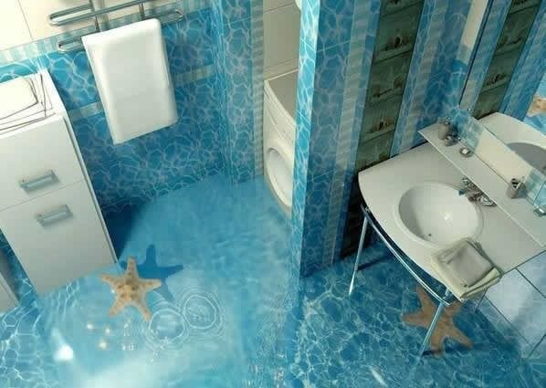 These 3d Bathroom Floor Designs Are So Insanely Awesome They Almost
