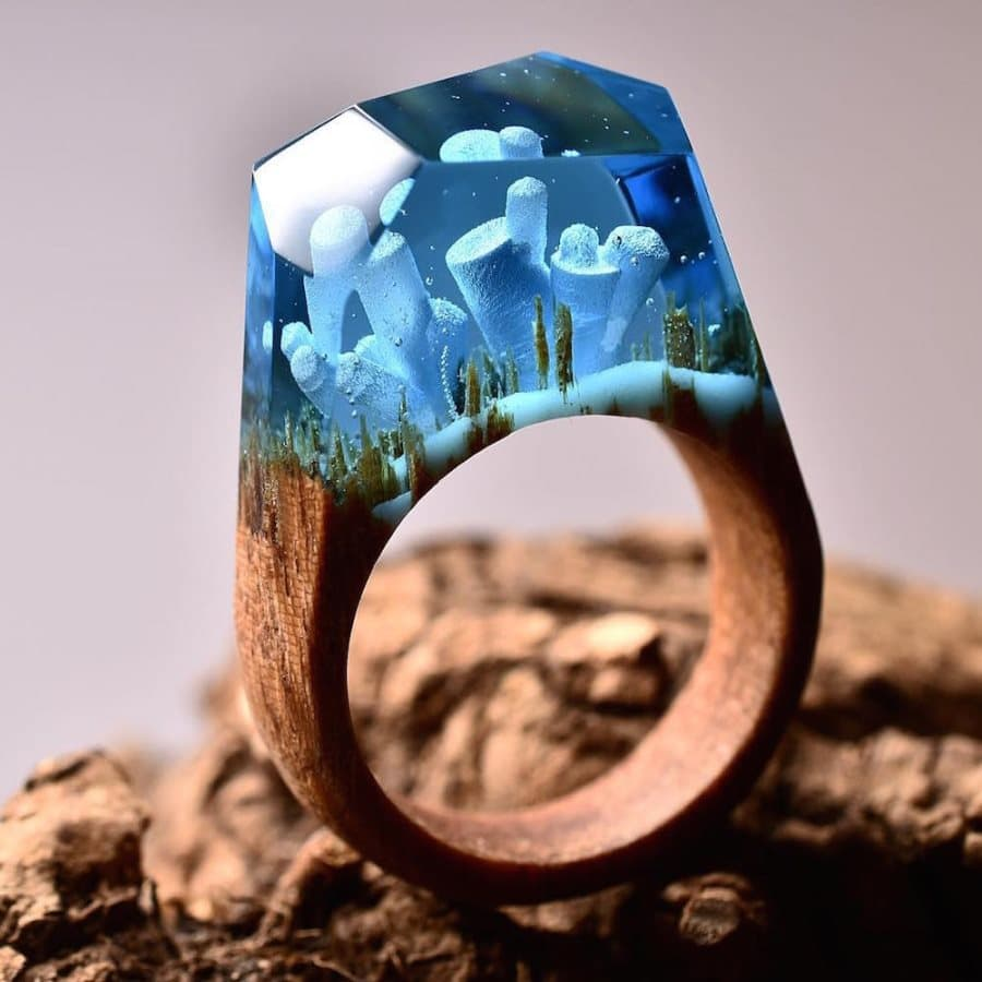 dazzling mystery perhaps wood ring most midnight are ever secret rings made these purple the