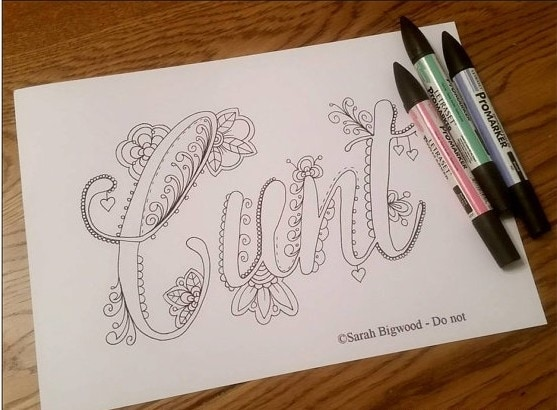 The Coloring Book Is Complete With 20 Curse Words And Was Originally Available For Instant Download On Etsy Until It Gained Major Popularity Became A
