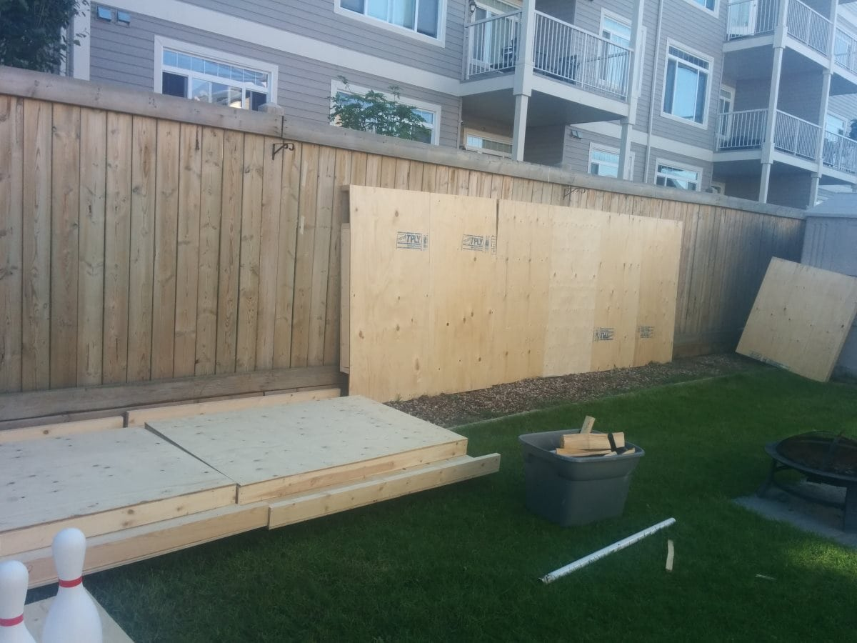 this guy 39 s diy backyard bowling alley is pretty much the