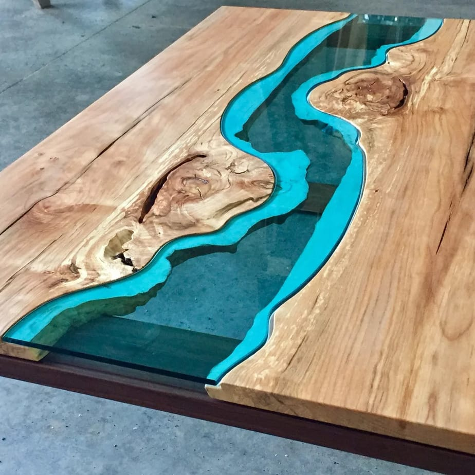 Glass Rivers And Lakes That Flow Across Beautiful Wooden