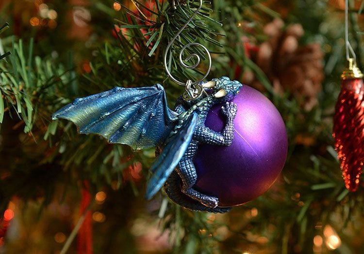 you can purchase these amazing dragon ornaments over on art by aelias etsy page