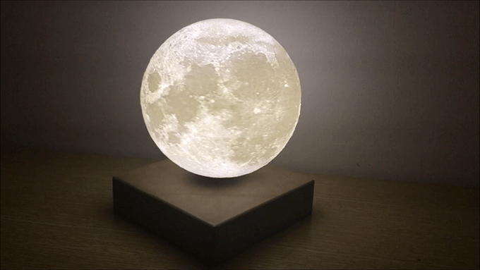 Levitating Moon Lamp Lets You Give Someone The Moon