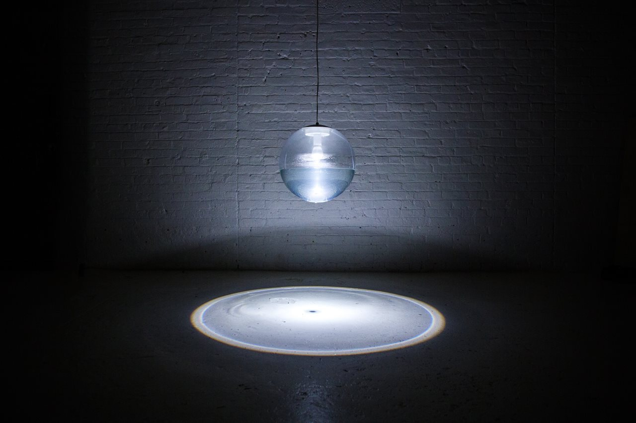 this unique rain lamp brings a lazy rainy day right into your bedroom rain lamp richard clarkson studio 1