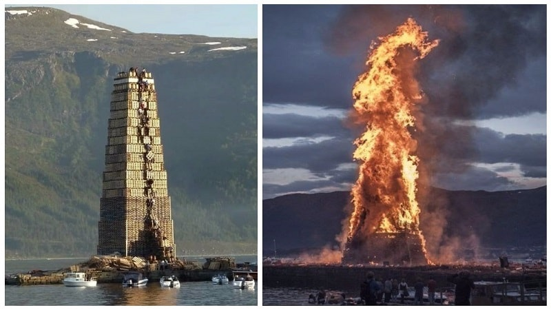 Travel Can You Actually - Norway creates biggest bonfire world