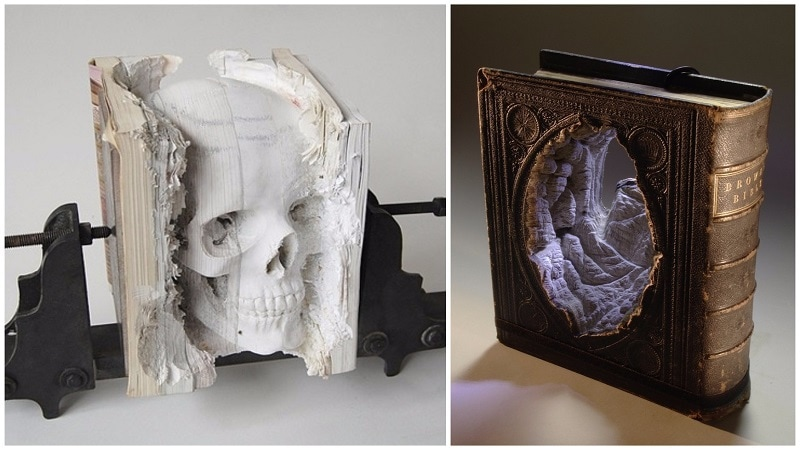 These Cool Sidewalk Chalk Art Creations Will Deceive You - 21 incredible works art sculpted books