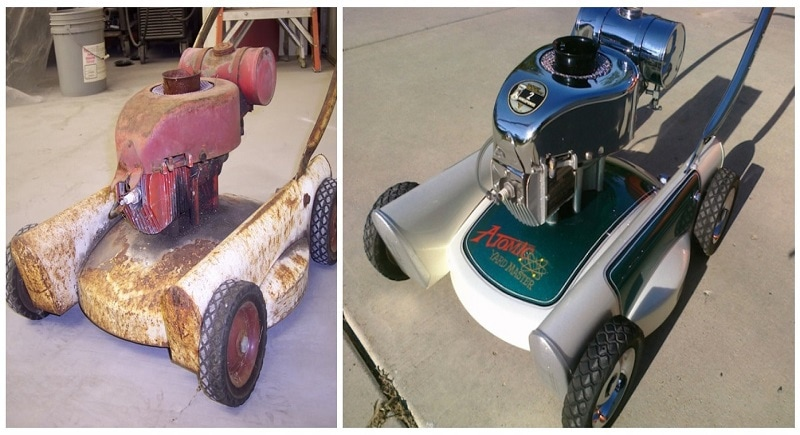 Vintage Lawn Mower Built To Look Like Retro Cars