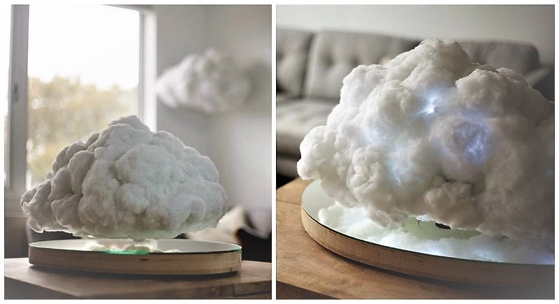 Cool Floating Bluetooth Speaker Disguised As A Cloud