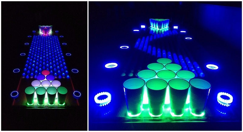 Interactive Led Beer Pong Table This Amazing LED Beer Pong Table Can Take All Of My Money