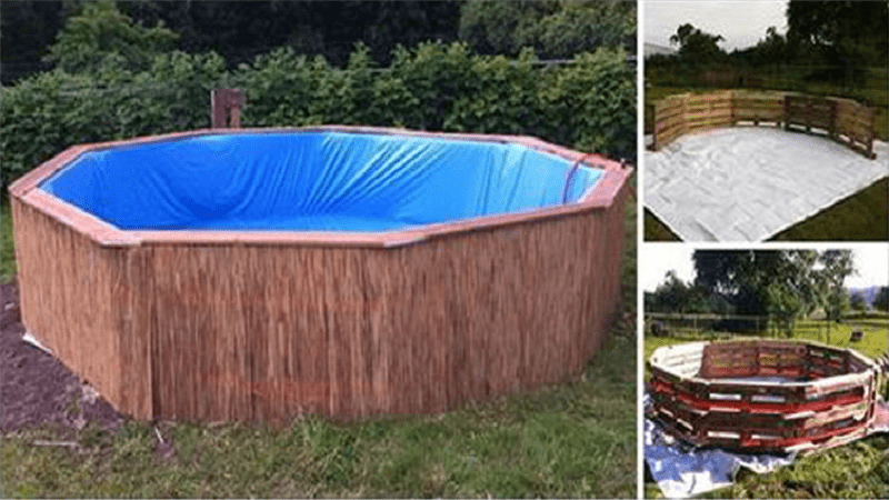 This Man 39 S Swimming Pool Made From 9 Wooden Pallets Is Ingenuity At Its Finest