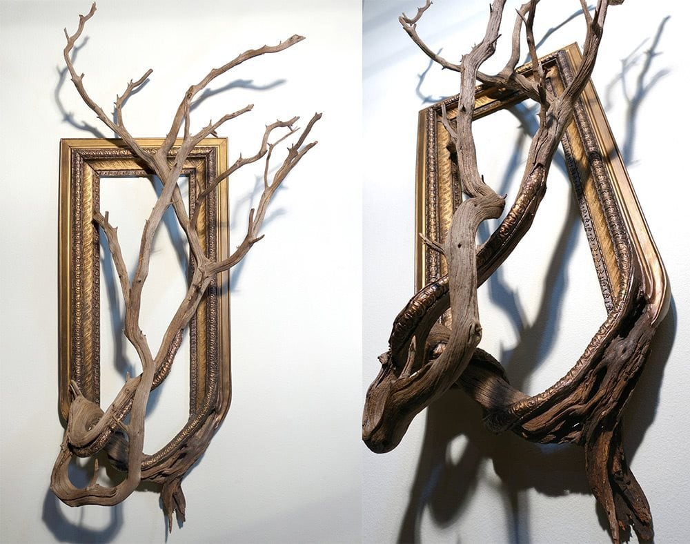 Guy fuses twisted tree branches with vintage picture frames to frame 3 jeuxipadfo Choice Image