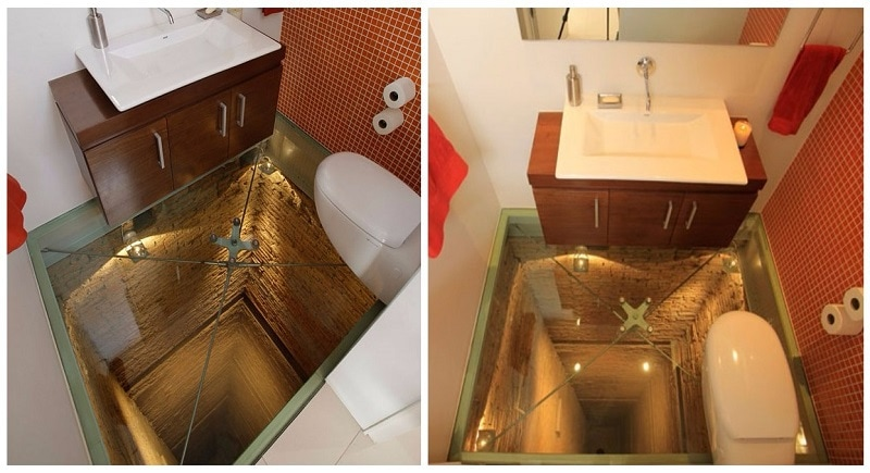 Glass Floor Bathroom Over A 15 Story Elevator Shaft Will