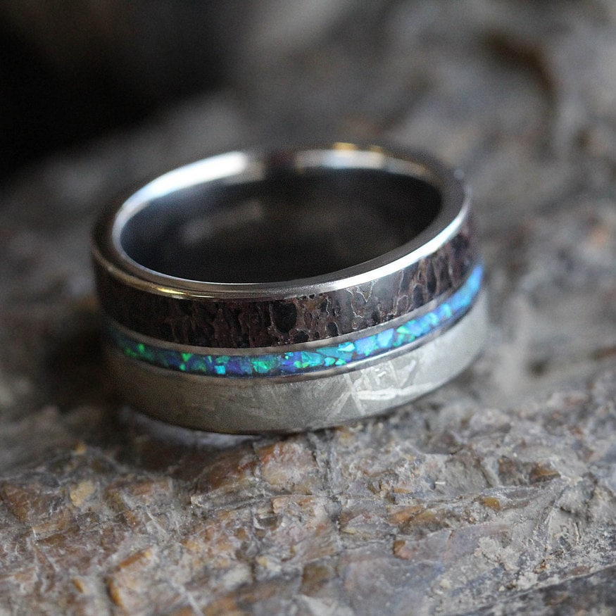 dinosaur bone wedding ring jewelry by johan handcrafts cool dinosaur bone rings 3550