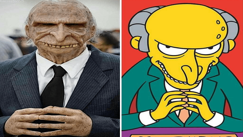 9 Cartoon Characters And Their Real Life : Real life versions of popular cartoon characters are creepy