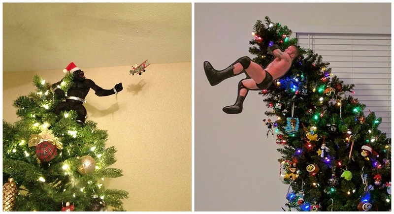 19 Creatively Awesome Christmas Tree Toppers